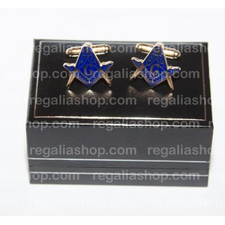 Masonic Cufflinks Square and Compass Design