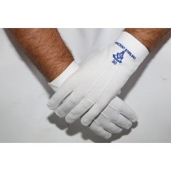 Past Master With Lodge Name & Number Craft Masonic Gloves