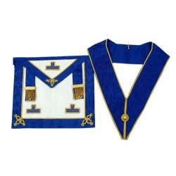 Provincial Full Dress Apron and Collar Set made from skin